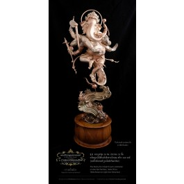 Phra Boocha White Bronze over Light Green Patina Base 26 cm Height (32 parts combination)